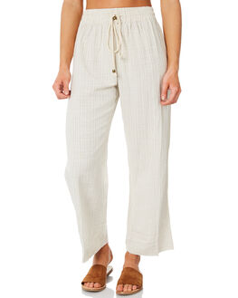 STONE STRIPE WOMENS CLOTHING SAINT HELENA PANTS - SH18AW555-STST