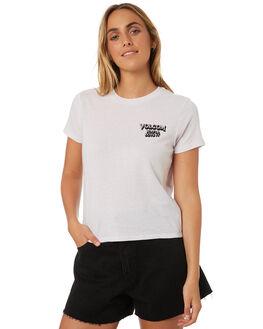 LIGHT PURPLE WOMENS CLOTHING VOLCOM TEES - B35318V4LPU