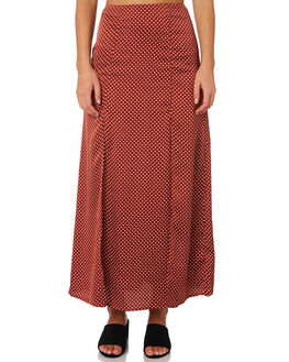 RUST WITH WHITE WOMENS CLOTHING THE FIFTH LABEL SKIRTS - 40190241-1RUS