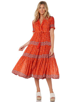 RED WOMENS CLOTHING FREE PEOPLE DRESSES - OB9071216600