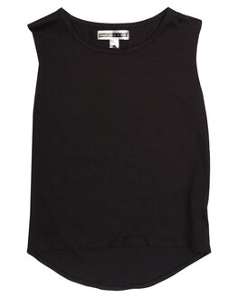 BLACK KIDS TODDLER GIRLS SWEET CHILD OF MINE SINGLETS - BRANDOTEEBLK