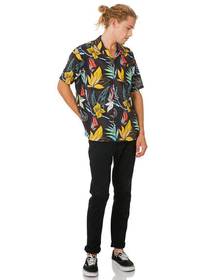 BLACK MENS CLOTHING HURLEY SHIRTS - BV1569010