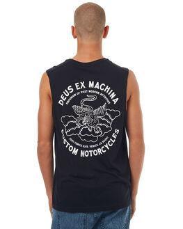 BLACK MENS CLOTHING DEUS EX MACHINA SINGLETS - DMP71861CBLK