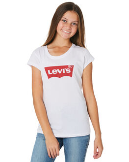 RED WHITE KIDS GIRLS LEVI'S TOPS - 37391-0180RDWT