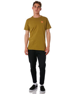 OLIVE GREEN MENS CLOTHING BANKS TEES - WTS0316_OGR
