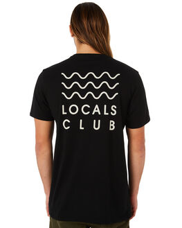 BLACK OUTLET MENS SWELL TEES - S5184023BLACK