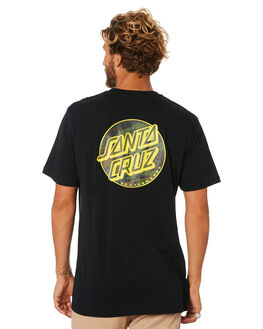 BLACK MENS CLOTHING SANTA CRUZ TEES - SC-MTA9159BLK