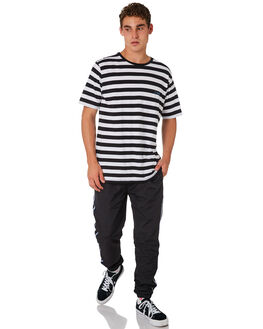 BLACK MENS CLOTHING BARNEY COOLS PANTS - 755-CR4BLK