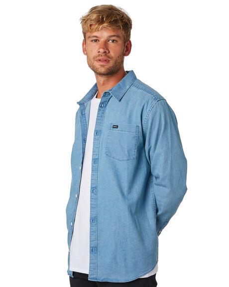 DENIM MENS CLOTHING RVCA SHIRTS - R393204DNM