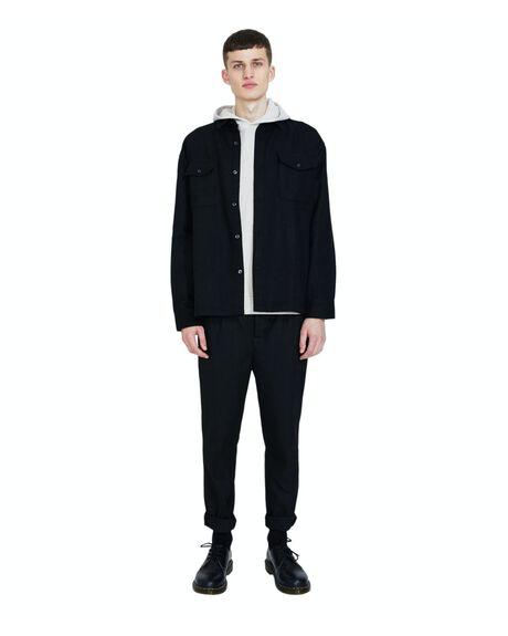 BLACK MENS CLOTHING BLACK NOISE WHITE RAIN SHIRTS - 23002500052