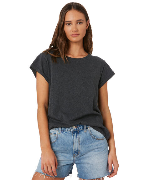 CHARCOAL MARLE WOMENS CLOTHING SILENT THEORY TEES - 6008046CHAR