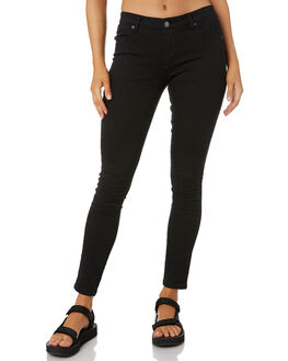 BLACK WOMENS CLOTHING RUSTY JEANS - PAL0741BLK