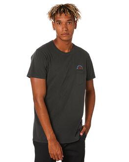 DIRTY BLACK MENS CLOTHING BANKS TEES - WTS0423DBL