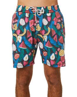 BLACK FRUITS MENS CLOTHING BARNEY COOLS BOARDSHORTS - 800-Q120BLKFR