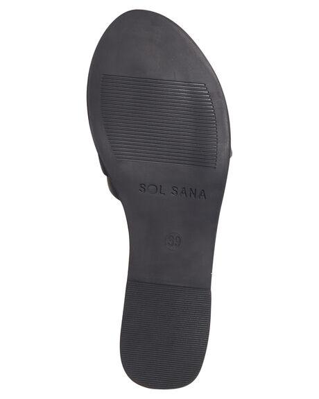 BLACK WOMENS FOOTWEAR SOL SANA FASHION SANDALS - SS181W419BLK