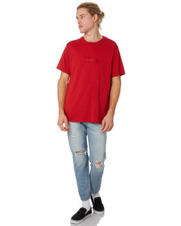 BRILLIANT RED MENS CLOTHING LEVI'S TEES - 69978-0022BRRED