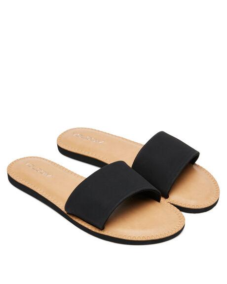 BLACK WOMENS FOOTWEAR VOLCOM SLIDES - W0811816BLK