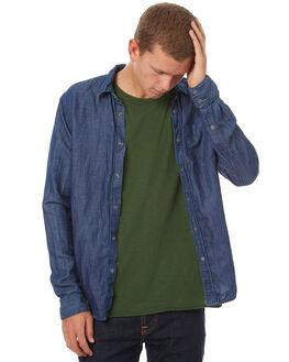 INDIGO MENS CLOTHING NUDIE JEANS CO SHIRTS - 140503B21