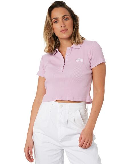 MAUVE WOMENS CLOTHING STUSSY TEES - ST102104MAVE