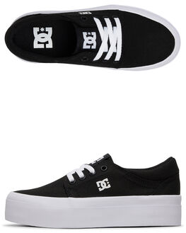 BLACK/WHITE WOMENS FOOTWEAR DC SHOES SNEAKERS - ADGS300101-BKW
