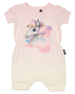 CREAM LIGHT PINK KIDS BABY ROCK YOUR BABY CLOTHING - BGB1879-RBCRM