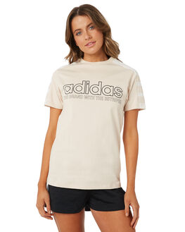 LINEN WOMENS CLOTHING ADIDAS TEES - DH4184LIN