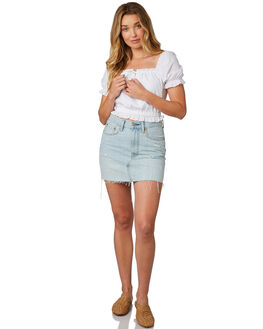 WHITE WOMENS CLOTHING MINKPINK FASHION TOPS - MP1710413ZWHITE