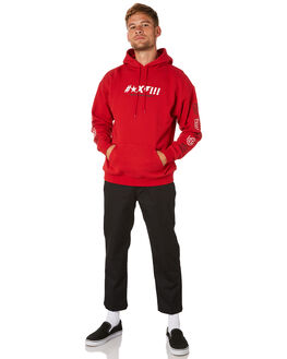 RED MENS CLOTHING BRIXTON JUMPERS - 02604RED