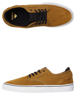 TAN BLACK MENS FOOTWEAR EMERICA SKATE SHOES - 6101000104-259