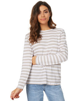 STONE STRIPE WOMENS CLOTHING ASSEMBLY TEES - AW-W1702STSTR