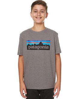 NARWHAL GREY KIDS BOYS PATAGONIA TEES - 62215NHG