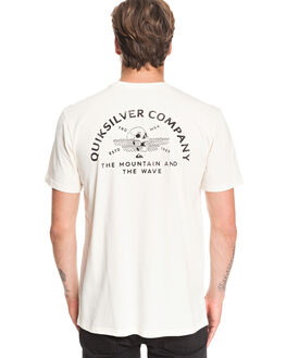 ANTIQUE WHITE MENS CLOTHING QUIKSILVER TEES - EQYZT05703-WCL0