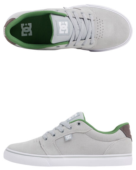 GREY/GREY/GREEN MENS FOOTWEAR DC SHOES SNEAKERS - 303190-XSSG
