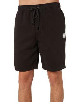 BLACK MENS CLOTHING RUSTY SHORTS - WKM0856BLK