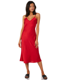 RED WOMENS CLOTHING LULU AND ROSE DRESSES - LU23736RED