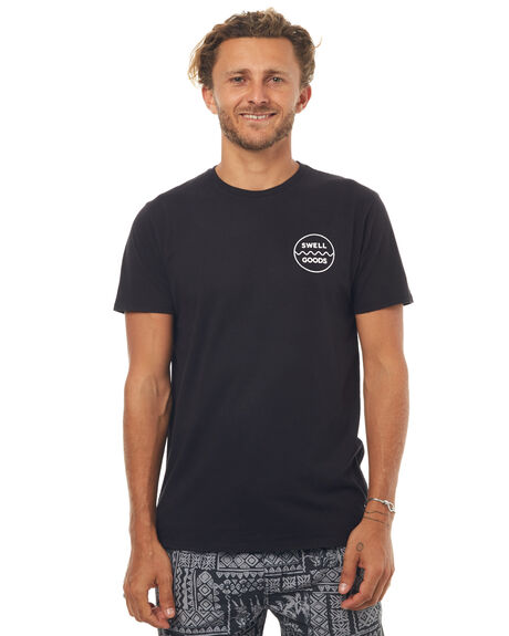 WASHED BLACK MENS CLOTHING SWELL TEES - S5171012WSHBK