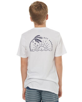 WHITE NAVY KIDS BOYS SWELL TOPS - S3171005WHTNY