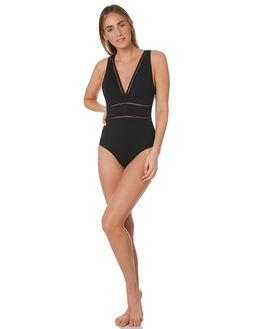 BLACK WOMENS SWIMWEAR SEA LEVEL BY NIPTUCK ONE PIECES - SL1039PBLK