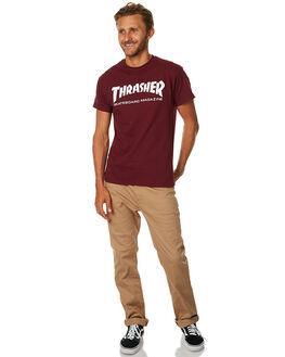 MAROON MENS CLOTHING THRASHER TEES - 311027MAR
