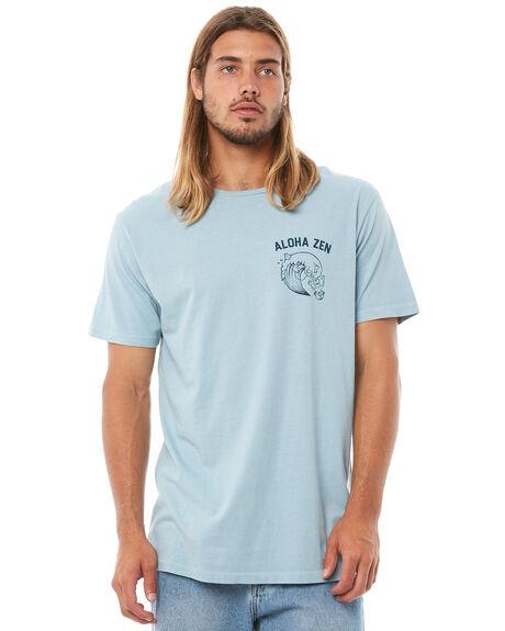 LIGHT BLUE MENS CLOTHING ALOHA ZEN TEES - AZ738LBLU