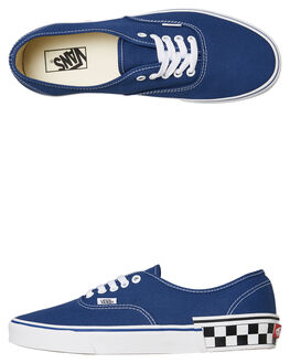 CHECKBLOCK NAVY MENS FOOTWEAR VANS SKATE SHOES - SSVNA38EMVJTCBNVYM