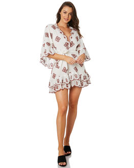 WHITE BERRY ANGLAISE WOMENS CLOTHING STEVIE MAY DRESSES - SL190919DWHT