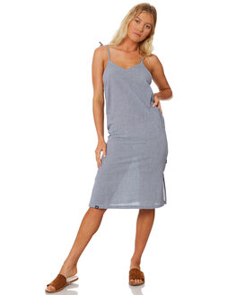 NAVY GINGHAM WOMENS CLOTHING RPM DRESSES - 8SWD04ANAV