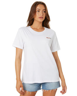 BRIGHT WHITE WOMENS CLOTHING RUSTY TEES - TTL1096BTW