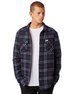 NEW NAVY MENS CLOTHING RVCA SHIRTS - R381189NNVY
