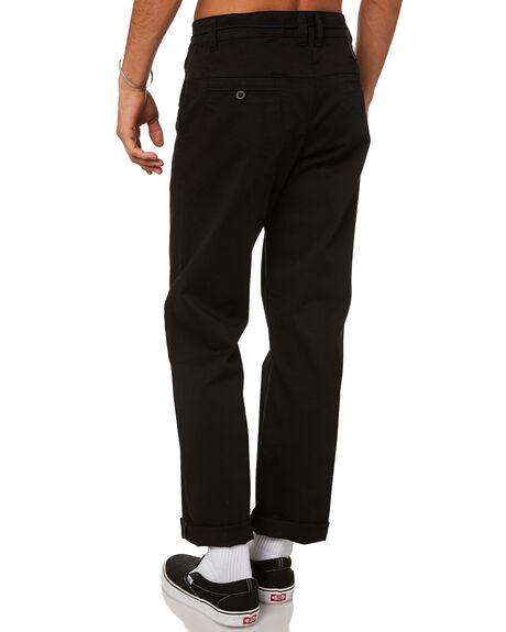 BLACK MENS CLOTHING FORMER PANTS - FPA-21301BLK