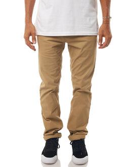 KHAKI MENS CLOTHING DC SHOES PANTS - EDYNP03132CLM0