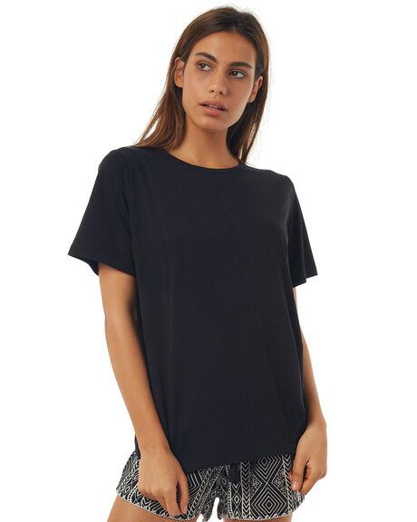 BLACK WOMENS CLOTHING RPM TEES - 7SWT03BBLACK