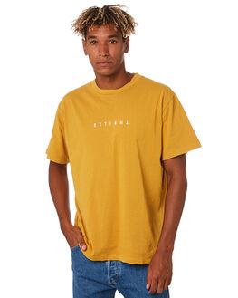 SUNLIGHT YELLOW MENS CLOTHING THRILLS TEES - TS9-101KSNYEL