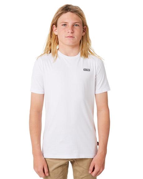 WHITE KIDS BOYS GLOBE TOPS - GB41810001WHT